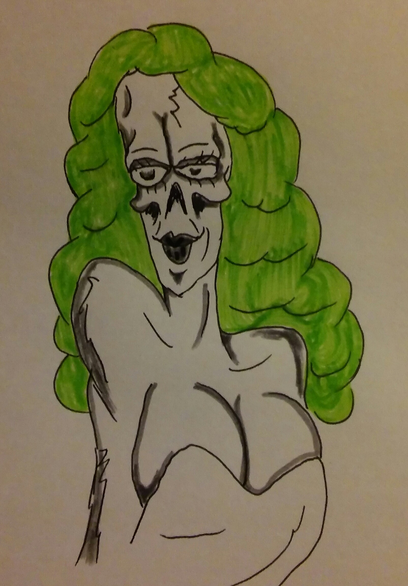 Green haired ghoul
